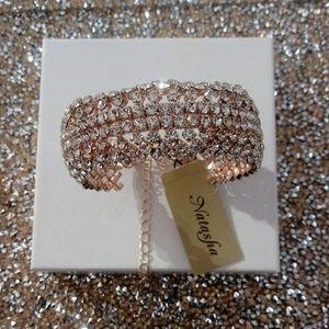 Natasha soft crystal bangle bracelet